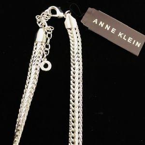 "Anne Klein Silver-Tone Flat Flex 17"" Necklace NWT!"